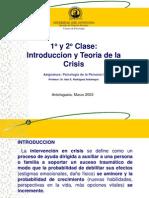 1° y 2° Clase, Introduccion y Teoria de la crisis, Presentación1