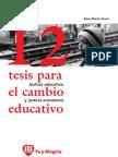 19017428 Rosa Maria Torres 12 Tesis Para El Cambio Educativo
