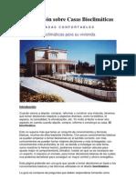Información sobre Casas Bioclimáticas