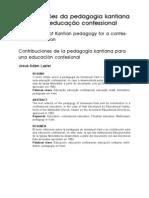 Filosofia e educação 2011.2  contribuição da pedagogia kantiana