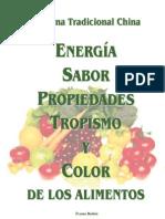 Energía Sabor Tropismo y Color de los Alimentos. Medicina Tradicional China