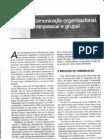 Comunicação Organizacional Interpessoal e Grupal