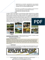 Orçamento SVC&EU - 17 à 30 Novembro de 2012