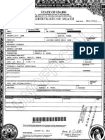 "Joseph ""Joe"" L. Feshbach Death Certificate - From Probate records"