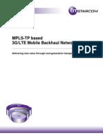 Mplstp Based Mobile Backhaul Networks 572