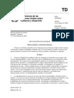 Confer en CIA de Las Naciones Unidas Sobre El Comercio y El Desarrollo