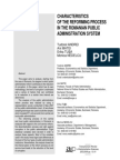 Andrei Et Al. - Characteristics of the Reforming Process in the Romanian Public Service (2009)