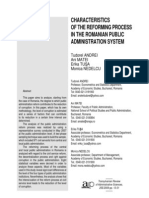 Andrei Et Al. - Characteristics of the Reforming Process in the Romanian Public Service (2009)