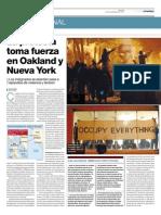 El Periodico.com | La protesta toma fuerza en Oakland y Nueva York
