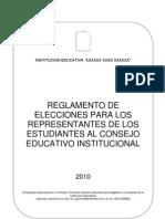 Reglamento de Elecciones CONEI-Estudiantes