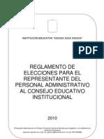 Reglamento de Elecciones CONEI-Administrativos