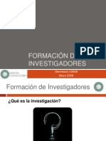 Formación de Investigadores