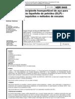 NBR 8460 - Requisitos e métodos de ensaios - Recipiente Transportável