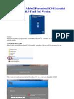 Tutorial Install Adobe Photoshop CS4 Extended