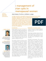 Management of ovarian cyst