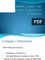 Introduction of Nestle Pakistan