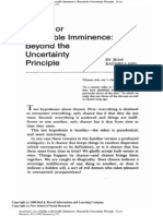 Jean Baudrillard - Fatality or Reversible Imminence - Beyond the Uncertainty Principle