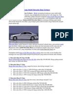 Harga Mobil Mercedes Benz Terbaru