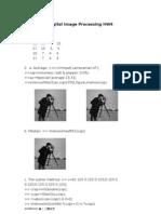 Digital Image Processing HW4
