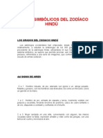 GRADOS SIMBÓLICOS DEL ZODÍACO HINDÚ