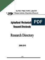 Mechanization Research Directory 2010
