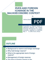 Reserve and Foreign Exchange