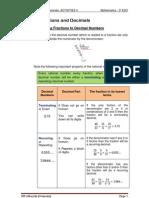 Unit 1 _Act 4_ Fractions and Decimals. _3º ESO_