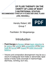Principles of Fluid Therapy on the Basis Of
