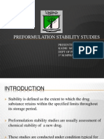 Pre Formulation Stability Studies