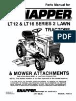 Snapper LT12 Parts Manual