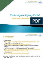 Firts Steps to Liferay Portal