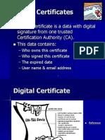 Digital Certificates (Certification Authority)