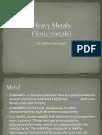 Heavy Metals(Toxic Metals)