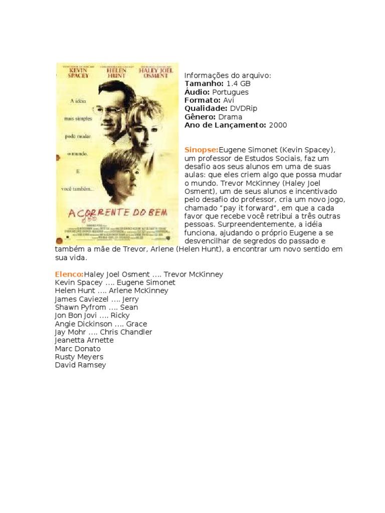 Sinopse Tamanho 1 4 Gb Audio Portugues Formato Avi Qualidade Dvdrip Genero Drama Ano De Lancamento 2000