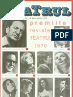 Revista Teatrul, nr. 12, anul XV, decembrie 1970