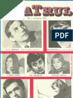 Revista Teatrul, nr. 1, anul XVI, ianuarie 1971