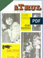 Revista Teatrul, nr. 3, anul XVI, martie 1971