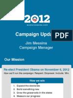 Obama 2012 - Strategy Update