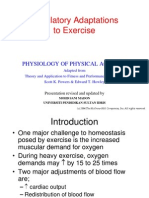 Lecture 3 (Circulatory Adaptation to Exercise( dr sani)