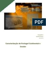 Caracterização de Portugal Continental e Insular