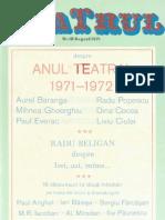 Revista Teatrul, nr. 8, anul XVI, august 1971