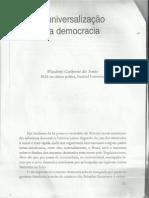 A Universalização da Democracia - Wanderley Guilherme dos Santo
