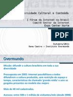 I Forum Da Internet No Brasil - CGI