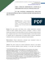 Considerações sobre a infração administrativa continuada e os sistemas do conhecimento do ato e da consumação do ato