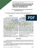 PRESENÇA DE COLIFORMES FECAIS EM SALADAS DE TOMATE E ALFACE