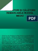 Calatori Si Calatorii bile in Evul Mediu - Cl. a VI-A