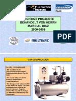 Projekte Marcial Diaz 2000-2006
