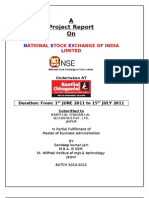 REPORT ON NSE