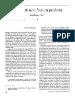 941 Coz, José (1993) Blanchot; una lectura profana (Rev. Renglones n° 27, dic)
