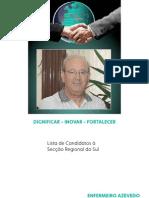 LISTA DE CANDIDATOS SECÇÃO REGIONAL DO SUL – ORDEM DOS ENFERMEIROS
